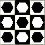 Balck white seamless pattern Royalty Free Stock Photos