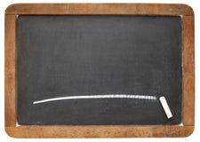 Balckboard dell'ardesia in bianco Fotografia Stock