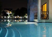 Balcón lateral de la piscina Fotografía de archivo libre de regalías