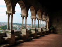 Balcão do castelo Fotografia de Stock Royalty Free