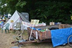 Balcombe fracking的抗议 免版税库存照片