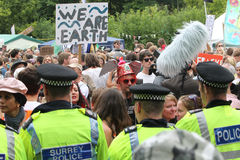 Balcombe Fracking protester Royaltyfri Foto