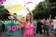 Balcombe Fracking Protests Royalty Free Stock Photo
