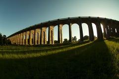 Balcombe viadukt på solnedgången royaltyfri foto