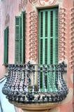 Balcon à Barcelone, Espagne Photographie stock libre de droits