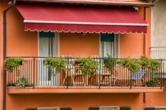 balcon photographie stock