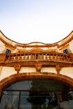 Balcon antique de maison, Bagheria, Sicile Photo stock