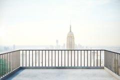 Balcon avec l'espace de copie Photo stock