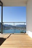 Balcon avec la vue panoramique image libre de droits
