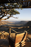 Balcon avec une vue - Namibie images stock