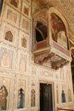Balcon décoré au palais d'été de Sultan Tipu photos libres de droits