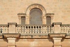 Balcon d'église image stock