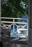 Balcon d'île photographie stock libre de droits