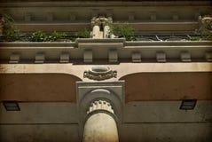 Balcon d'une maison dans Barbatro, Espagne Images libres de droits