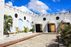balcon de贝拉斯克斯有在海湾的美丽的景色 免版税库存照片