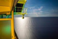 Balcon de bateau de croisière Images libres de droits