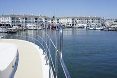 Balcon de côté droit du yacht Image stock