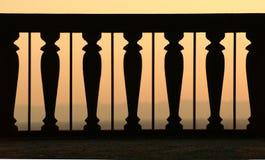Balcon de crépuscule Photographie stock