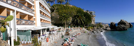 The Balcon de Europa in Nerja Andalucia Spain Stock Image