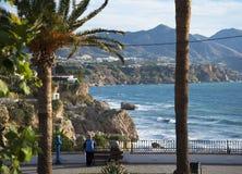 Balcon de Europa in Nerja Andalusien Spanien Lizenzfreie Stockfotografie