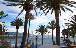 Balcon de Europa in Nerja Andalusien Spanien Stockfotografie