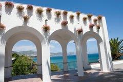 Balcon de Europa, Nerja, Malaga Fotos de Stock Royalty Free