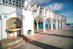 Balcon de Europa. Nerja, Spain. Royalty Free Stock Photos