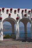 Balcon de Europa in Nerja, Spain. Balcon de Europa in Nerja- Nerja is famous resort on Costa del Sol, Spain Royalty Free Stock Images