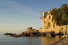 Balcon de Europa at sunrise in Nerja Royalty Free Stock Photos