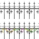 Balcon de fer travaillé de la Nouvelle-Orléans illustration libre de droits