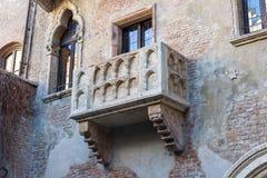 Balcon de Juliet à Vérone Photo stock