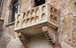 Balcon de Juliet dans la ville de Vérone, Italie images libres de droits