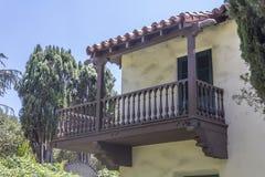 Balcon de Nueva de maison de La au musée de ferme Photographie stock libre de droits