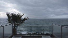 Balcon de temps orageux clips vidéos