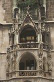 Balcon del ayuntamiento en Munich imagen de archivo libre de regalías