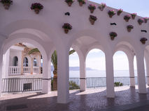 Balcon Del Europa w Nerja, kurort na Costa Del Zol blisko Malaga, Andalucia, Hiszpania, Europa Obrazy Stock
