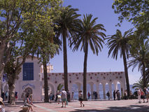 Balcon Del Europa w Nerja, kurort na Costa Del Zol blisko Malaga, Andalucia, Hiszpania, Europa Zdjęcie Stock