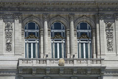 Balcon des deux points de Theatro à Buenos Aires Photo stock