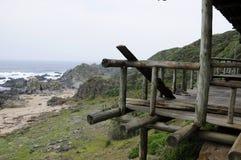 Balcon en bois Photographie stock