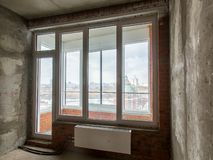 Balcon en gros plan dans l'appartement pour la r?paration photos libres de droits