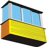 balcon en plastique illustration libre de droits