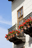 Balcon with flowers Stock Photo