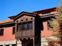 Balcon inclus de style turc, Grèce image libre de droits