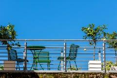 Balcon - la vie de ville Photos stock
