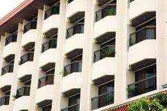 balcon sur une construction Image libre de droits
