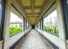 Balcon traditionnel thaïlandais Images libres de droits