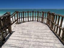 Balcon tropical avec la vue de mer Photo libre de droits