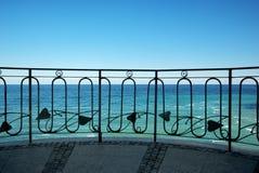 Balcon vers la mer Images stock