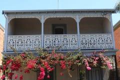 Balcon victorien de style à Melbourne images stock