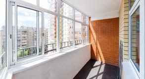 Balcon vitré image libre de droits